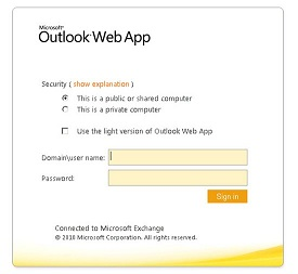 Exchange 2010 OWA