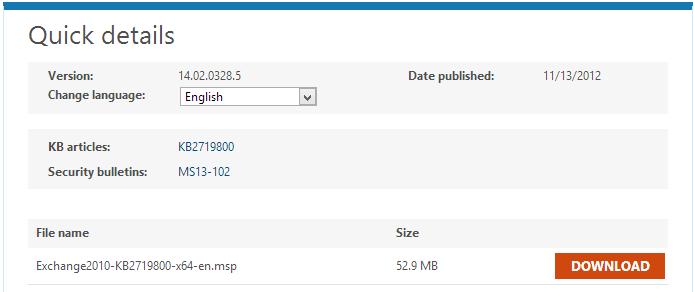 Exchange Server 2010 Service Pack 2 Rollup 5 (KB2719800) - ExchangeBlog