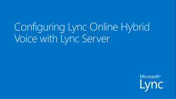 Configuring Lync Online Hybrid Voice with Lync Server